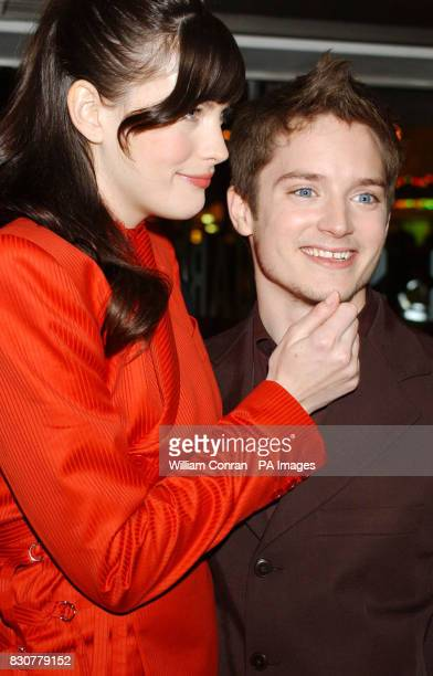 Stars of the movie Liv Tyler and Elijah Wood at the Odeon Leicester Square in London for the world premiere of Lord of the Rings The Fellowship of...
