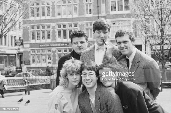Stars of the television comedy series Alfresco posed together in London on 25th April 1983 Clockwise from top left Robbie Coltrane Stephen Fry Hugh...