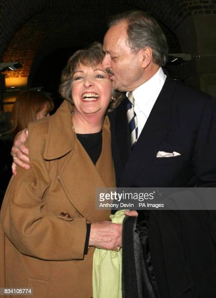 Stars of To The Manor Born Penelope Keith and Peter Bowles pictured during The Importance of Being Earnest after party at the Cafe in the Crypt...