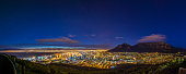 More than an hour before sunrise, the stars are clearly visible over a chilly Cape Town .