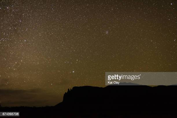 Stars over Mount Oakleigh on the Overland Track