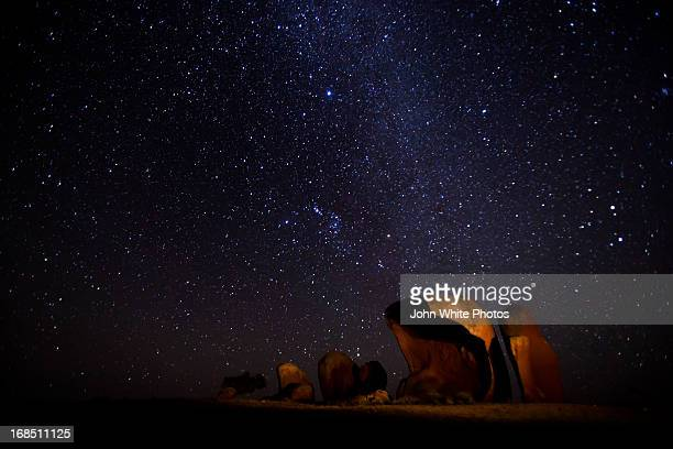 Stars over Murphy's Hay Stacks. Australia.