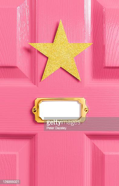 Stars pink dressing room door