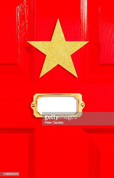 Stars red dressing room door