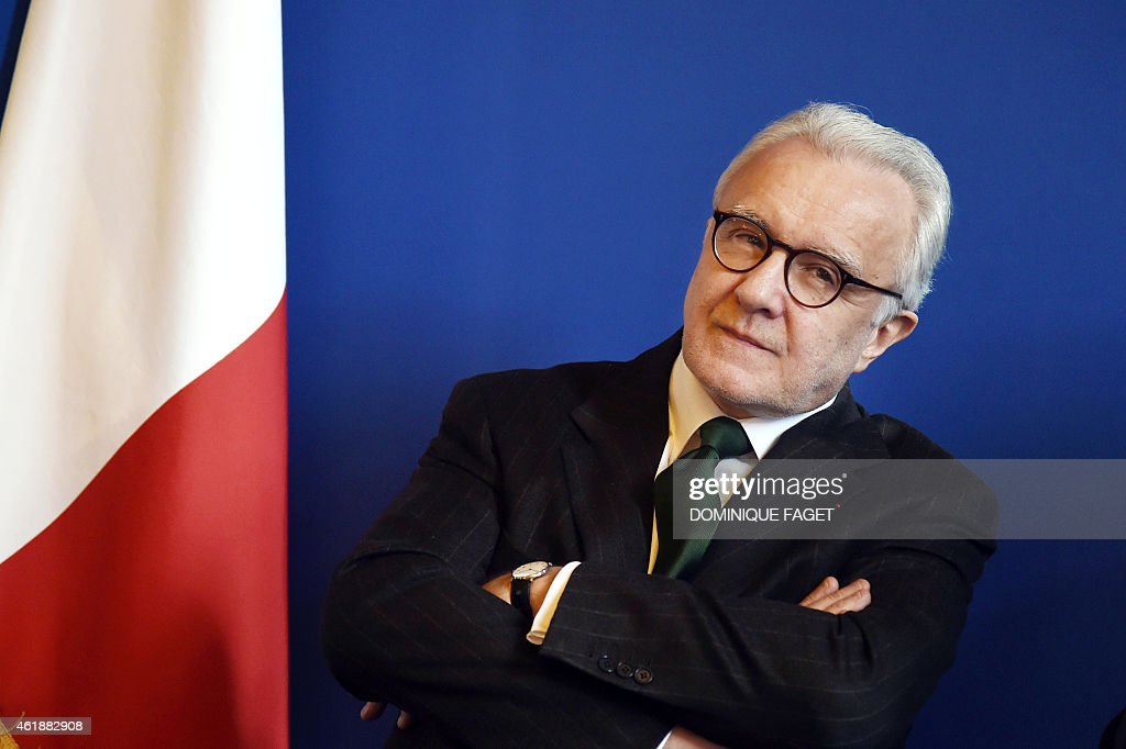 Starstudded French Chef Alain Ducasse attends a press conference for the presentation of the 'Gout de France [taste of France] / Good France' event...