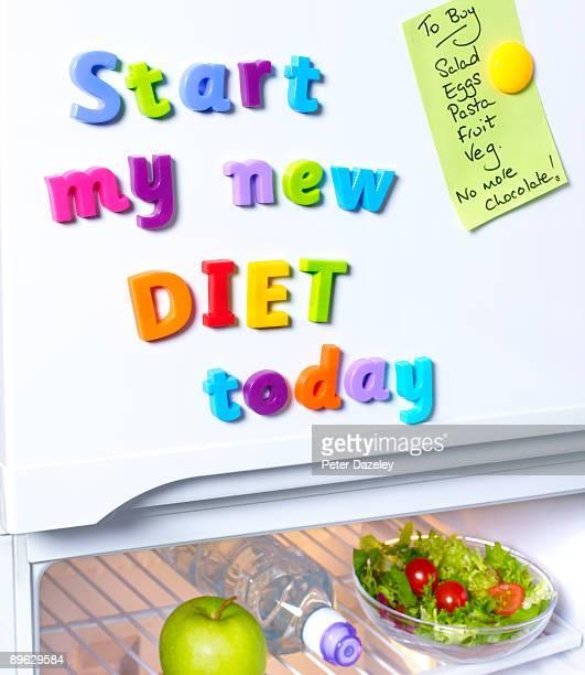 Start new diet today fridge magnets.