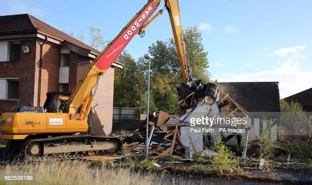 Start of demolition at the former Army base at Lisanelly in Omagh for the commencement of development of the Lisanelly Shared Education Campus Omagh