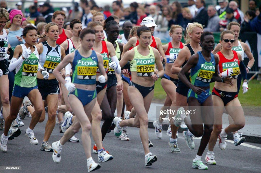 Start of London Marathon, Blackheath. : Stock Photo