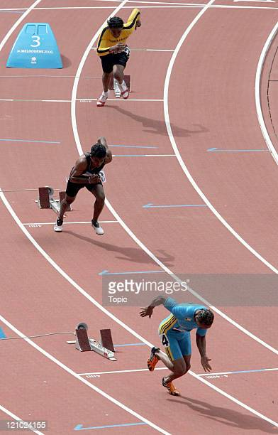 Start of the 400m running heats March 20 during the 2006 Commonwelth Games held in Melbourne Australia