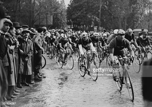Start Of The Cyclist Race Paris Brest In Paris On April 29Th 1934