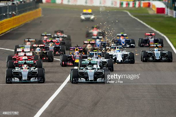 Start of the Formula One Grand Prix of Japan at Suzuka Circuit on September 27 2015 in Suzuka