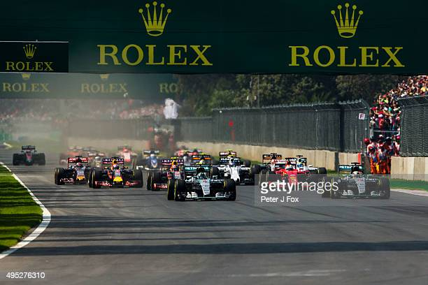 Start of the Formula One Grand Prix of Mexico at Autodromo Hermanos Rodriguez on November 1 2015 in Mexico City Mexico