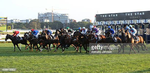 Start of the Metropolitan during Sydney Racing at Royal Randwick Racecourse on October 4 2014 in Sydney Australia