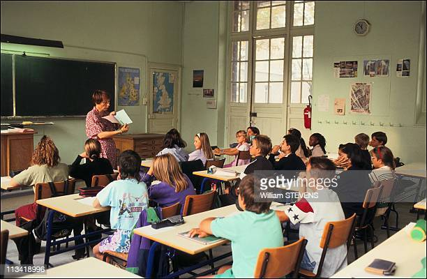 Start of the school year at St Exupery college in Vincennes in 1991