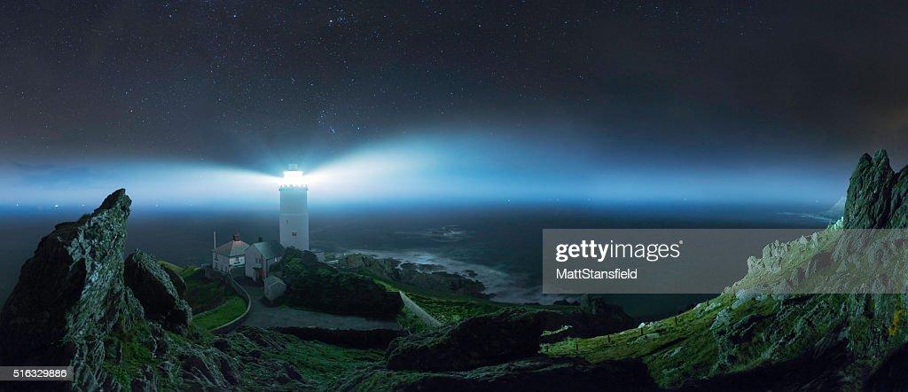 Start Point Lighthouse-Devon : Stock Photo