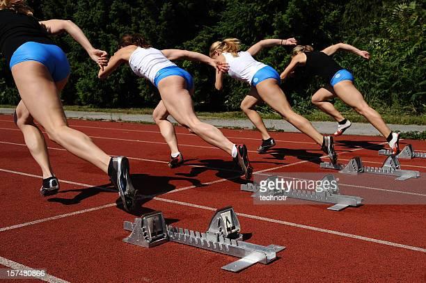 sprint Rennen beginnen