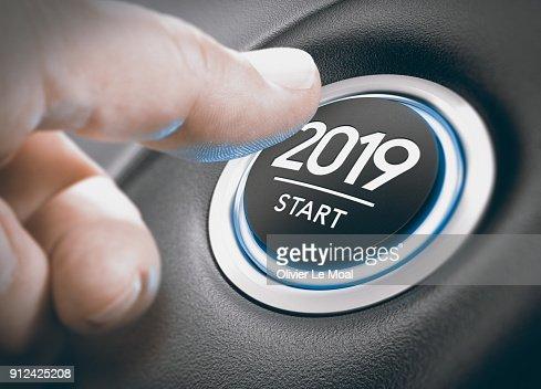 2019 Start, Two Thousand Nineteen. : Stock Photo