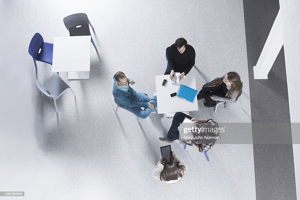 Start up business planning meeting in new office : Stock Photo