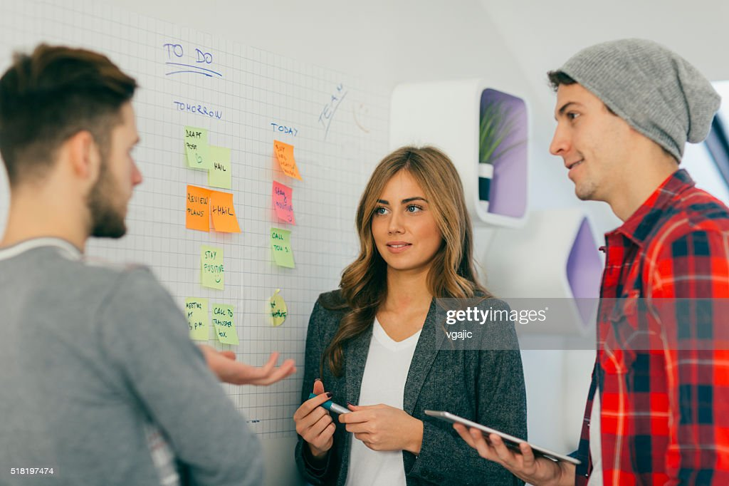 Start Up Team Collaborating. : Stock Photo