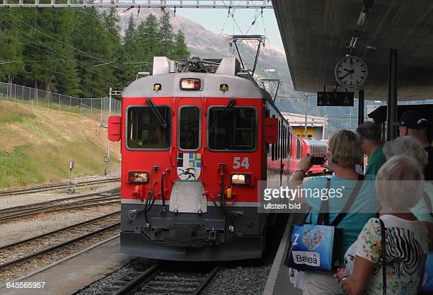 StartBahnhof Pontresina Fahrt mit Original BerninaExpress