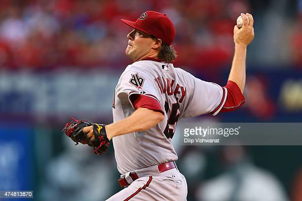 Starter Archie Bradley of the Arizona Diamondbacks pitches against the St Louis Cardinals in the first inning at Busch Stadium on May 26 2015 in St...