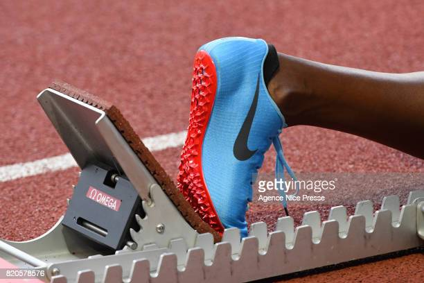 Starter detail women's 400 m hurdles during the IAAF Diamond League Meeting Herculis on July 21 2017 in Monaco Monaco