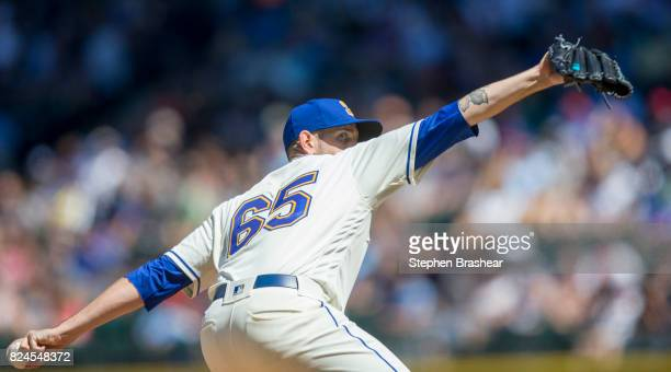 Starter James Paxton of the Seattle Mariners delivers a pitch during the fourth inning of an interleague game against the New York Mets at Safeco...