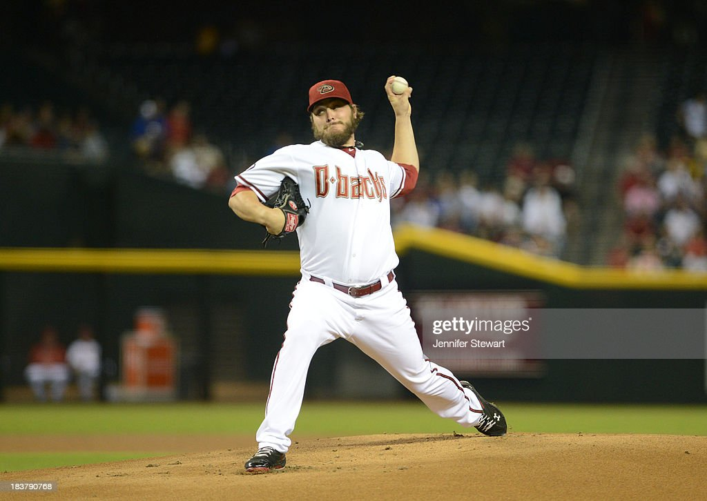 Starter Wade Miley #36 of the Arizona Diamondbacks pitches against the Tampa Bay Rays in the first inning at Chase Field on August 6, 2013 in Phoenix, Arizona.