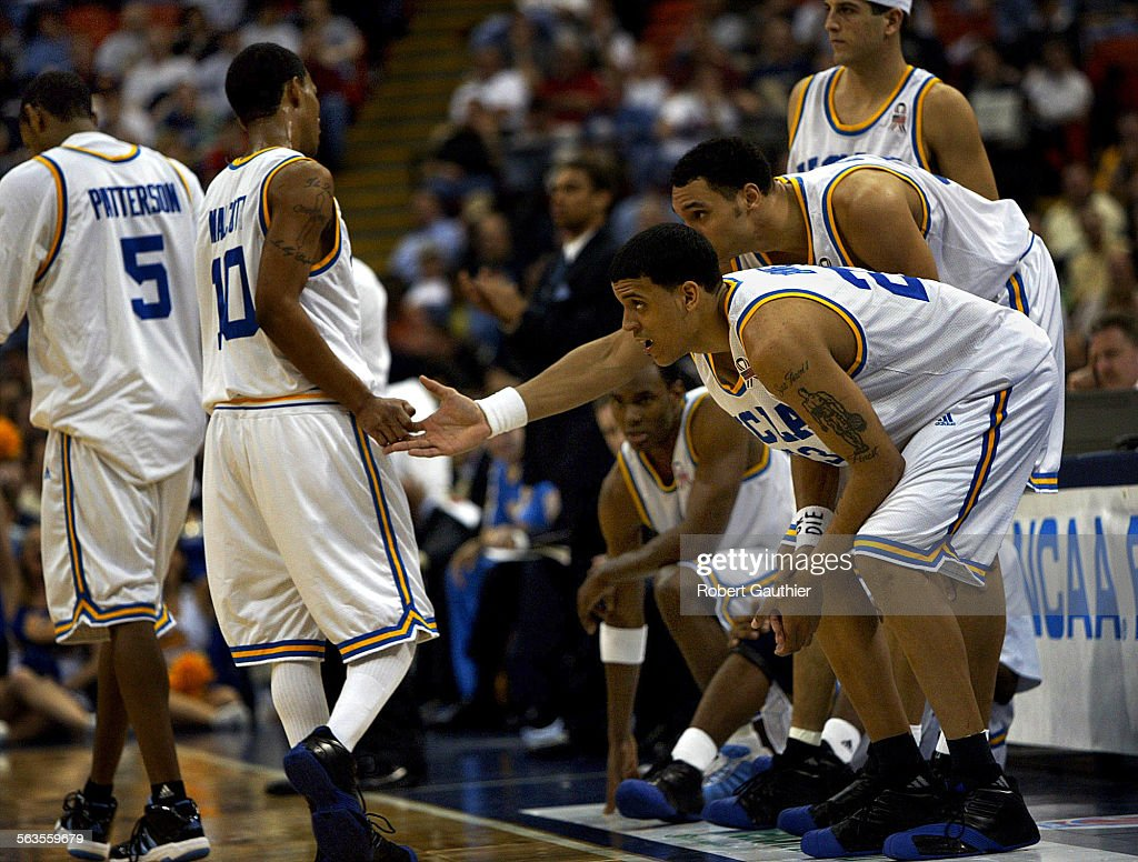 UCLA starters Matt Barnes Dan Gadzuric Jason Kapono and Billy