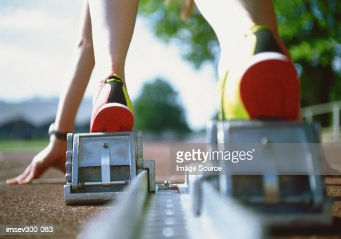Starting block : Stock Photo