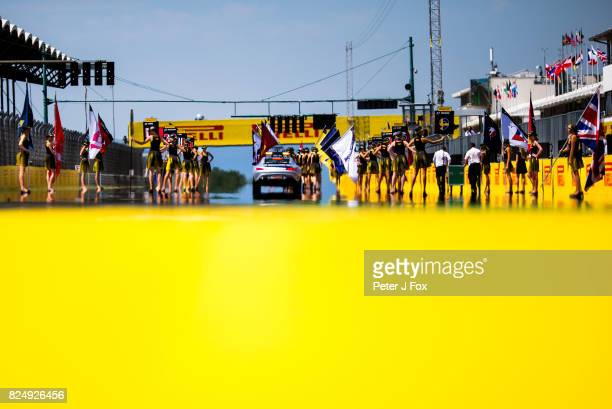 Starting Grid during the Formula One Grand Prix of Hungary at Hungaroring on July 30 2017 in Budapest Hungary