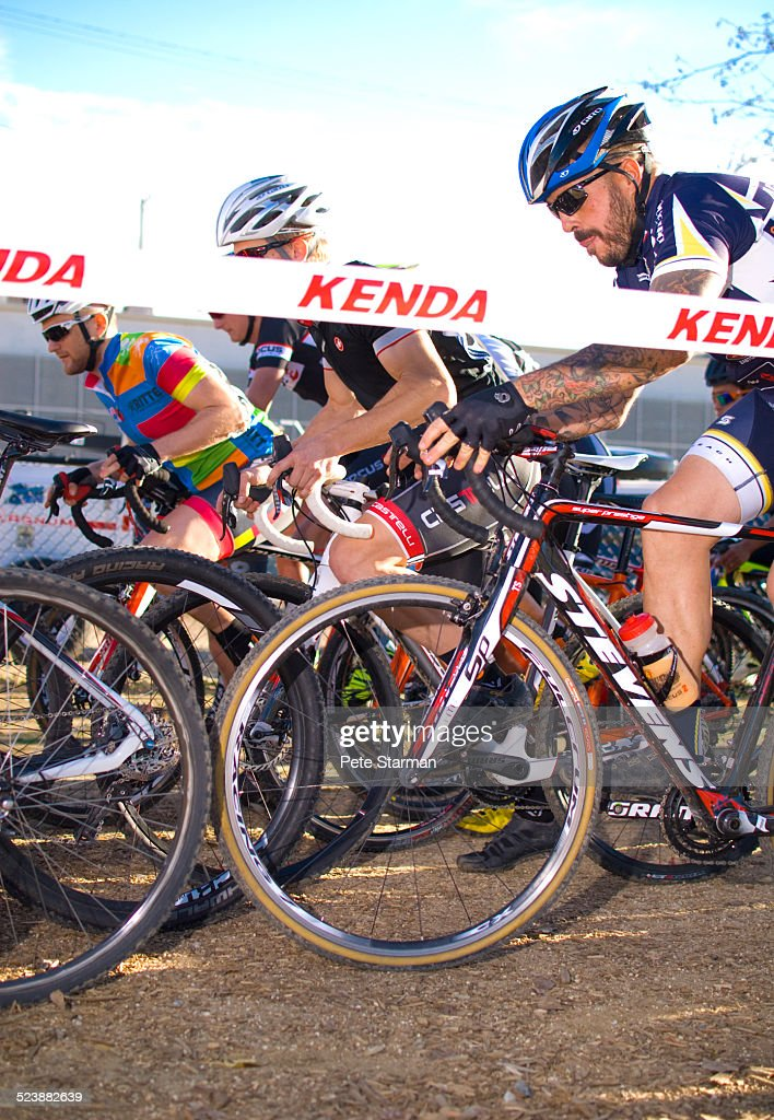Starting line at Cylco Cross race, Los Angeles.