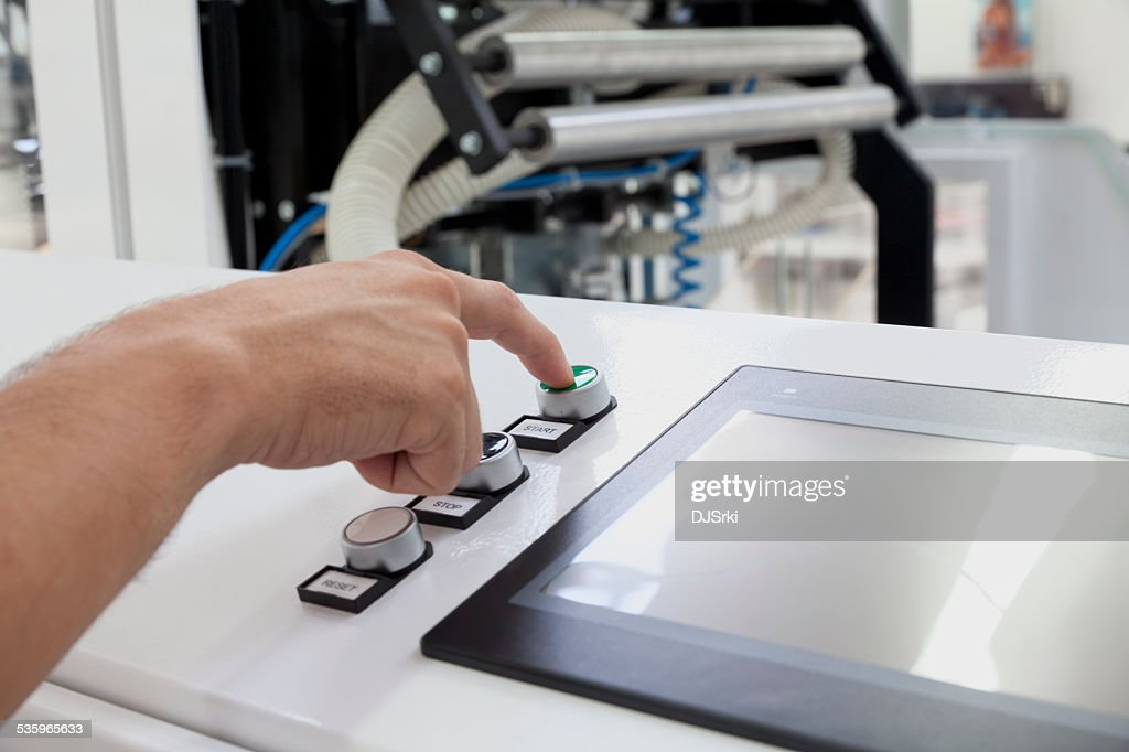starting machine : Stock Photo