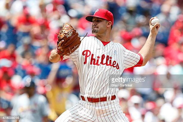Starting pitcher Adam Morgan of the Philadelphia Phillies throws a pitch during his MLB Debut in the first inning of the game against the St Louis...