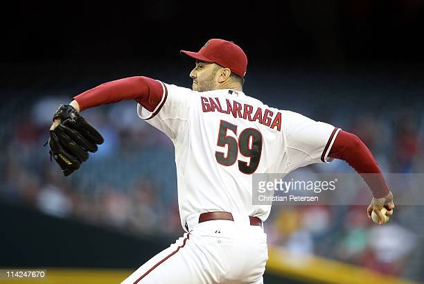 Starting pitcher Armando Galarraga of the Arizona Diamondbacks pitches against the San Diego Padres during the Major League Baseball game at Chase...