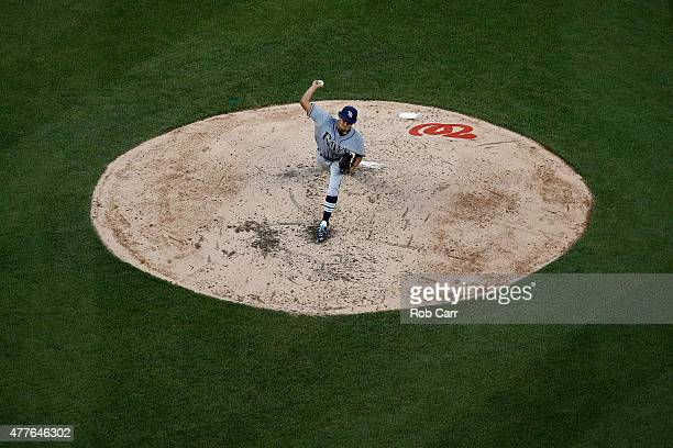 Starting pitcher Chris Archer of the Tampa Bay Rays throws to a Washington Nationals batter in the third inning at Nationals Park on June 18 2015 in...