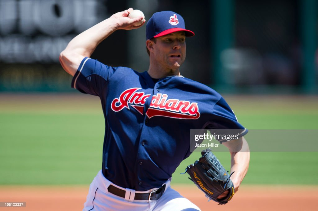 Starting pitcher Corey Kluber #28 of the Cleveland Indians pitches during the first inning against the Minnesota Twins at Progressive Field on May 5, 2013 in Cleveland, Ohio.