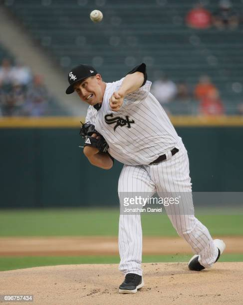 Starting pitcher Derek Holland of the Chicago White Sox delivers the ball against the Baltimore Orioles at Guaranteed Rate Field on June 13 2017 in...