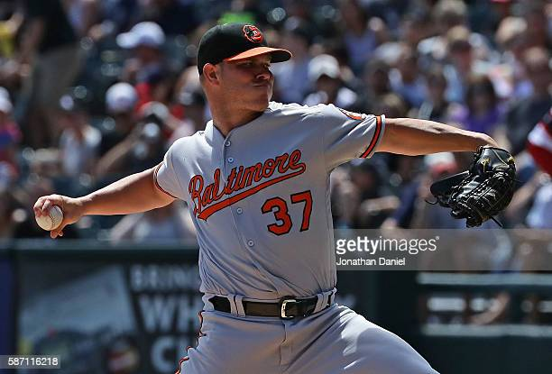Starting pitcher Dylan Bundy of the Baltimore Orioles delivers the ball against the Chicago White Sox at US Cellular Field on August 7 2016 in...