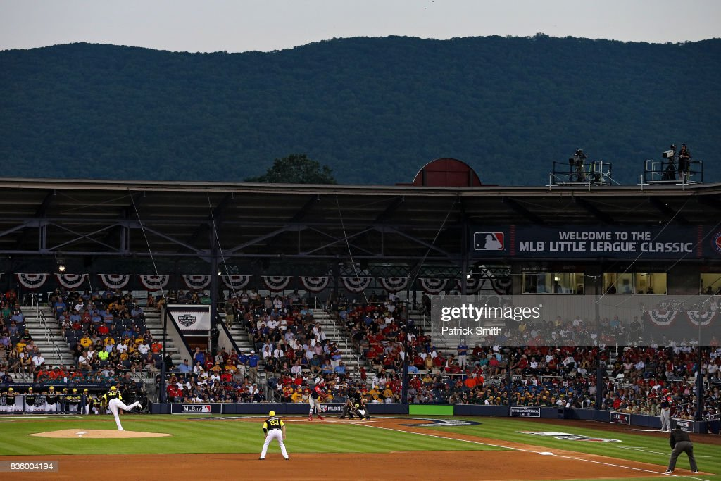 Starting pitcher Ivan Nova #46 of the Pittsburgh Pirates works a St. Louis Cardinals batter in the inaugural MLB Little League Classic at BB&T Ballpark at Historic Bowman Field on August 20, 2017 in Williamsport, Pennsylvania.