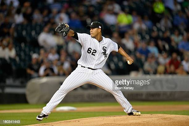 Starting pitcher Jose Quintana of the Chicago White Sox delivers during the first inning against the Detroit Tigers at US Cellular Field on September...