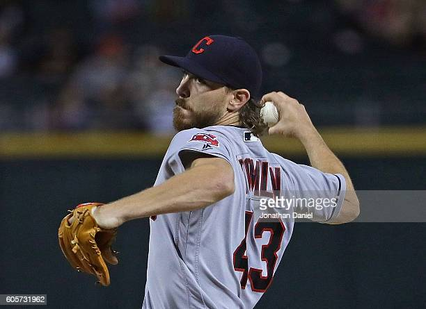 Starting pitcher Josh Tomlin of the Cleveland Indians delivers the ball against the Chicago White Sox at US Cellular Field on September 14 2016 in...