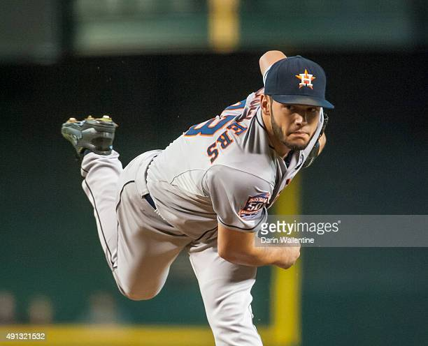 Starting pitcher Lance McCullers of the Houston Astros delivers a pitch during a MLB game against the Arizona Diamondbacks on October 4 2015 at Chase...