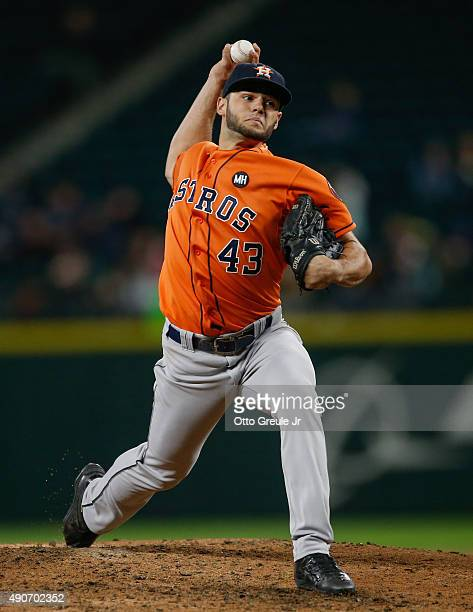 Starting pitcher Lance McCullers of the Houston Astros pitches against the Seattle Mariners at Safeco Field on September 28 2015 in Seattle Washington