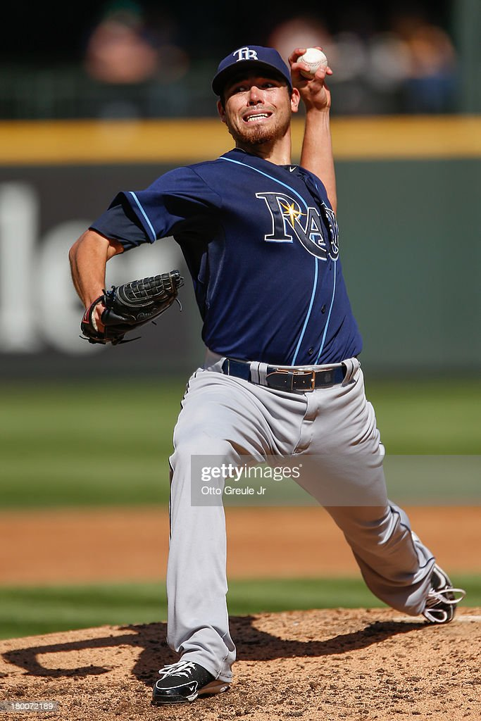 Starting pitcher Matt Moore #55 of the Tampa Bay Rays pitches in the second inning against the Seattle Mariners at Safeco Field on September 8, 2013 in Seattle, Washington.