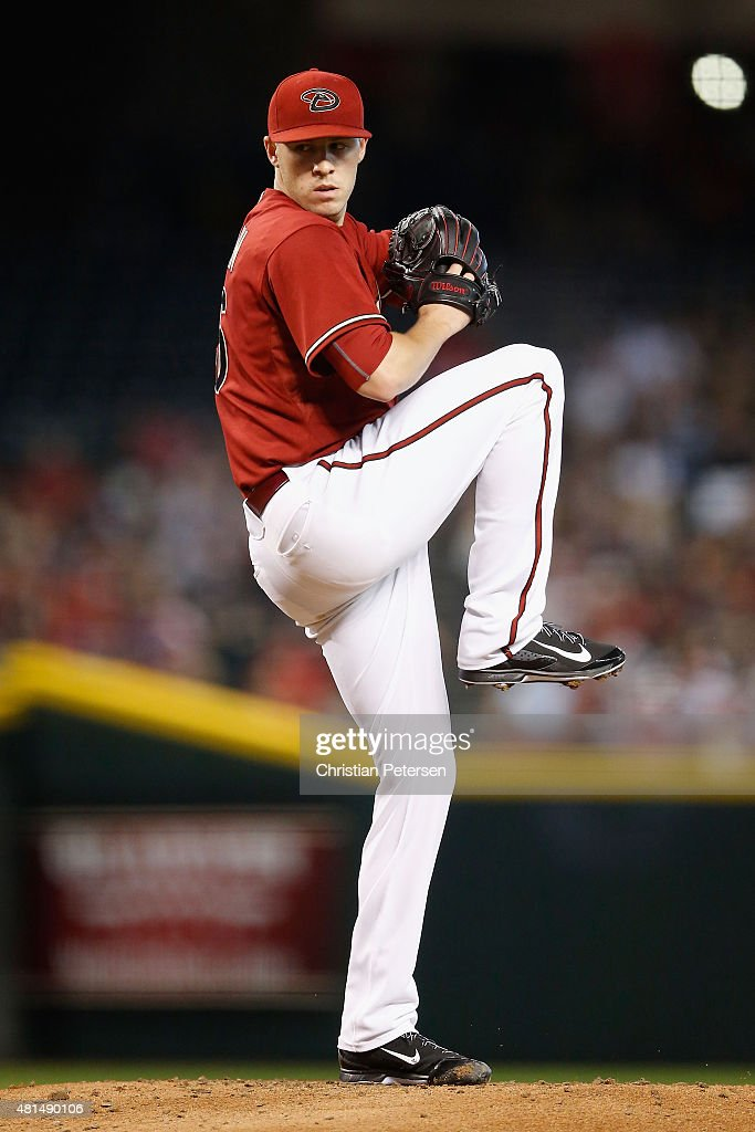 Starting pitcher Patrick Corbin of the Arizona Diamondbacks pitches against the San Francisco Giants during MLB game at Chase Field on July 19 2015...