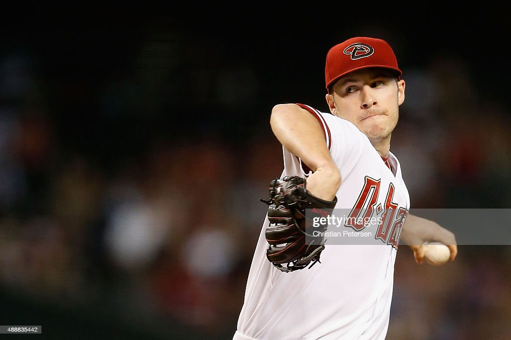 Starting pitcher Patrick Corbin of the Arizona Diamondbacks pitches against the San Francisco Giants during the first inning of the MLB game at Chase...