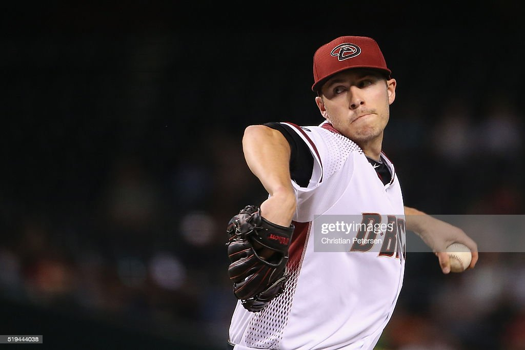Starting pitcher Patrick Corbin of the Arizona Diamondbacks pitches against the Colorado Rockies during the fourth inning of the MLB game at Chase...