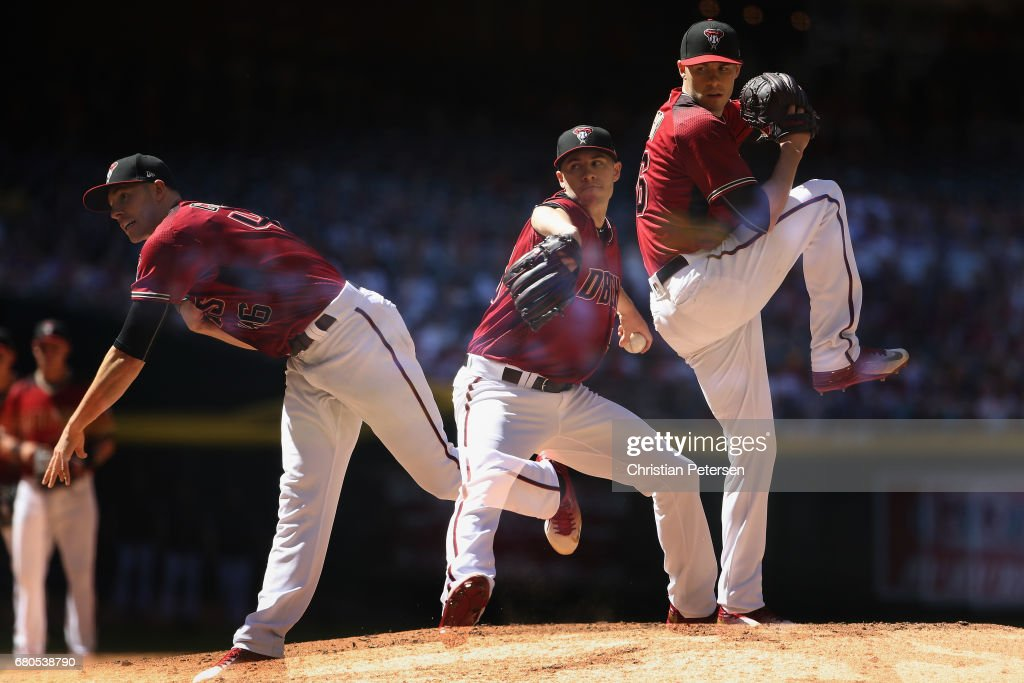 Starting pitcher Patrick Corbin #46 of the Arizona Diamondbacks pitches against the Colorado Rockies during the MLB game at Chase Field on April 30, 2017 in Phoenix, Arizona. The Diamondbacks defeated the Rockies 2-0.