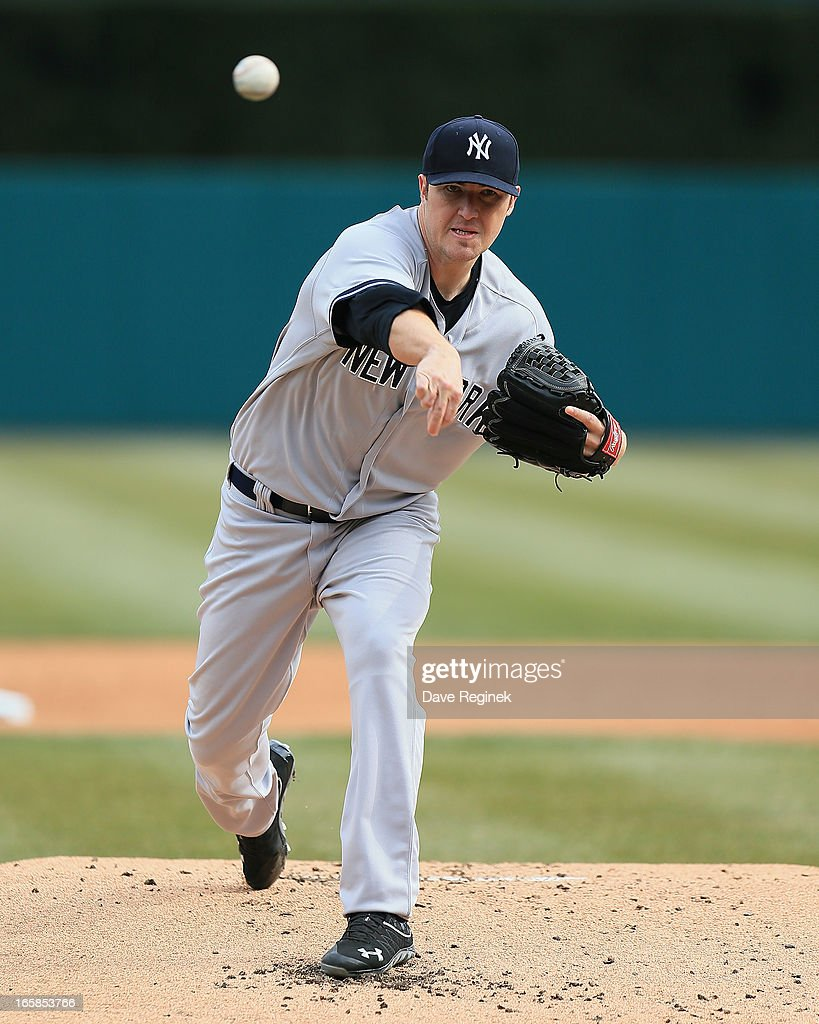 Starting pitcher Phil Hughes #65 of the New York Yankees throws the baseball against the Detroit Tigers at Comerica Park on April 6, 2013 in Detroit, Michigan.